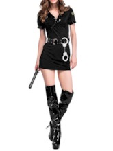 Western Short Sleeve Plain Patchwork Classic Halloween Women's Costumes