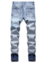 Hole Straight European Men's Jeans