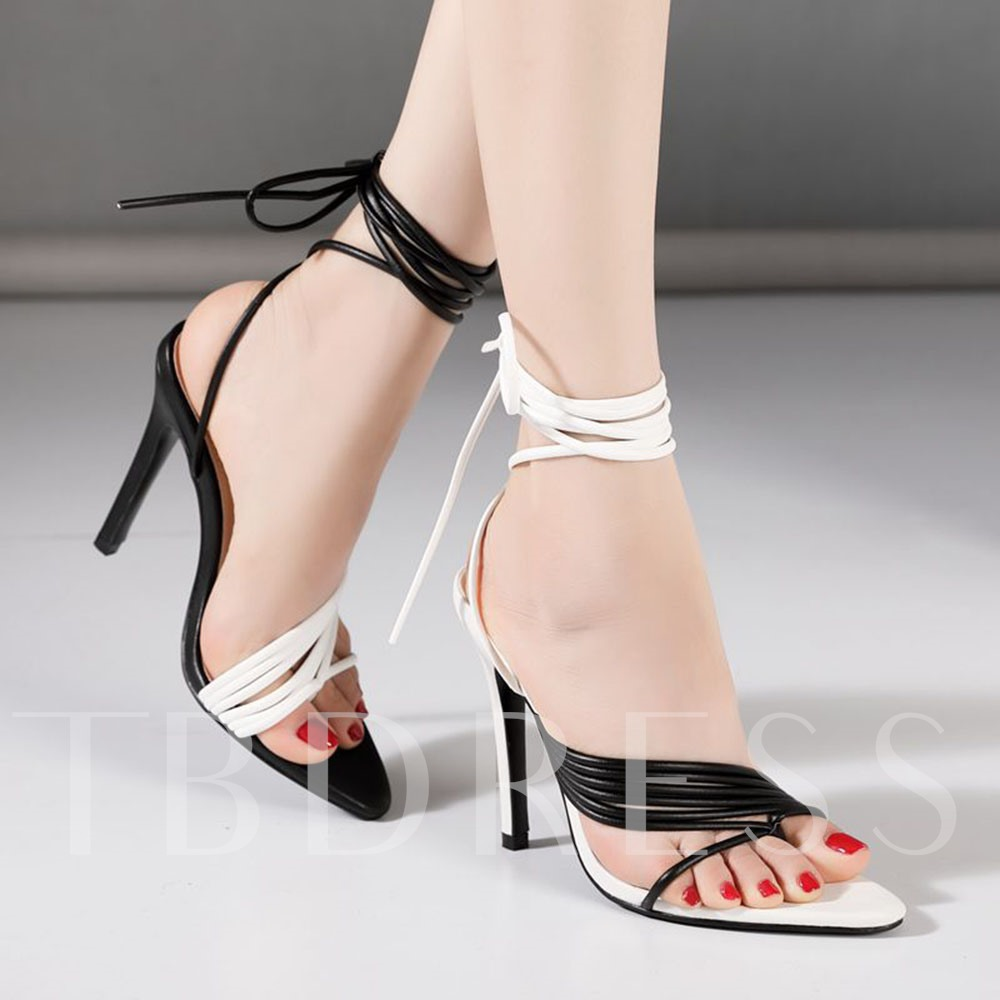 Lace-Up Thong Lace-Up Sandals