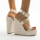 Open Toe Strappy Slip-On Wedge Heel Professional Sandals