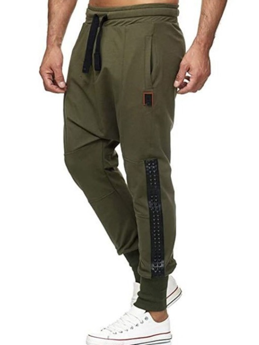 Baggy Pants Patchwork Color Block Spring Men's Casual Pants