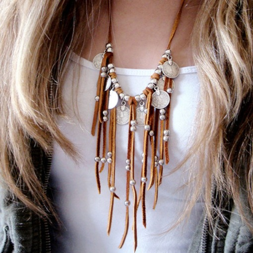 Vintage Tassel Pendant Necklace Female Necklaces