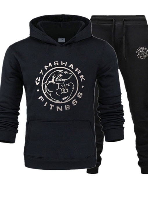 Letter Casual Hoodie Print Fall Men's Outfit