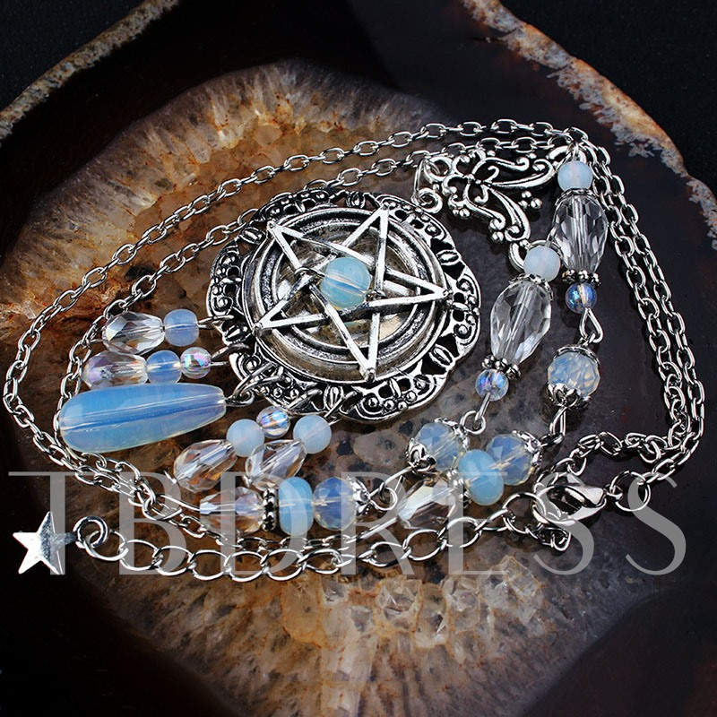 Ethnic Hollow Out Pendant Necklace Female Necklaces