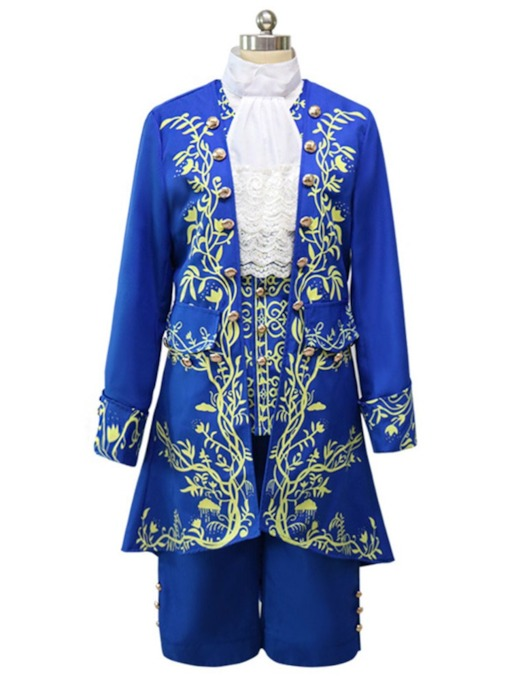 Print Long Sleeve Men's Costumes
