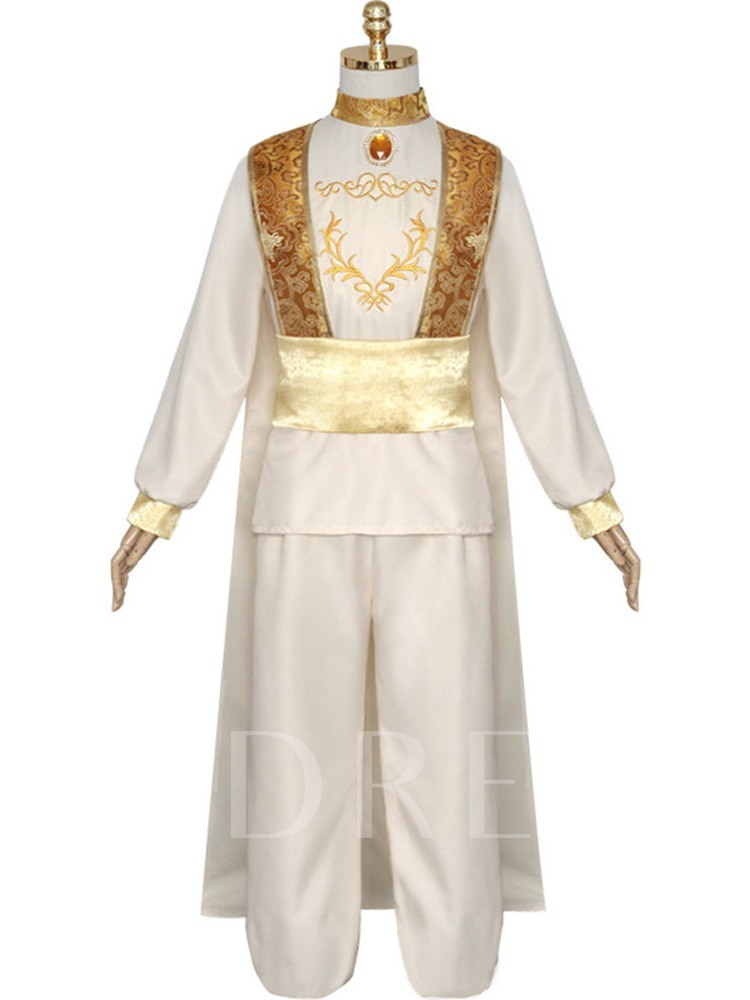 Embroidery Floral Cotton Men's Costumes