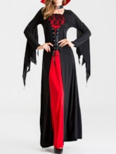 Long Sleeve Patchwork Color Block All-Season Women's Costumes