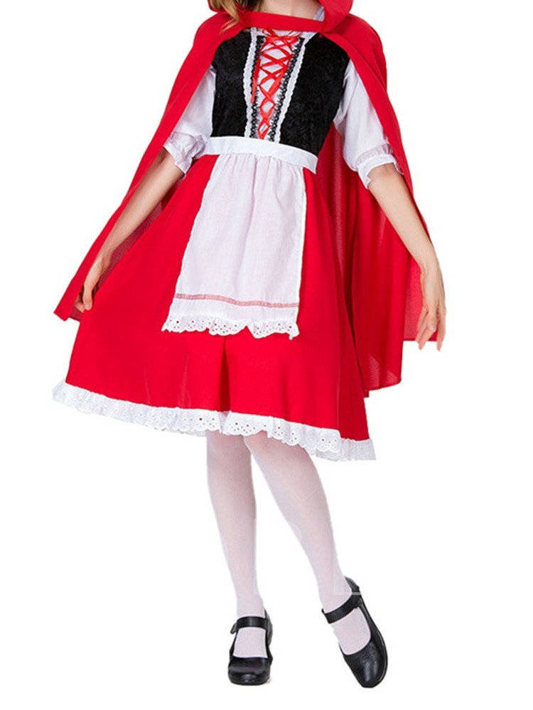 Patchwork Color Block Western Classic Halloween Women's Costumes