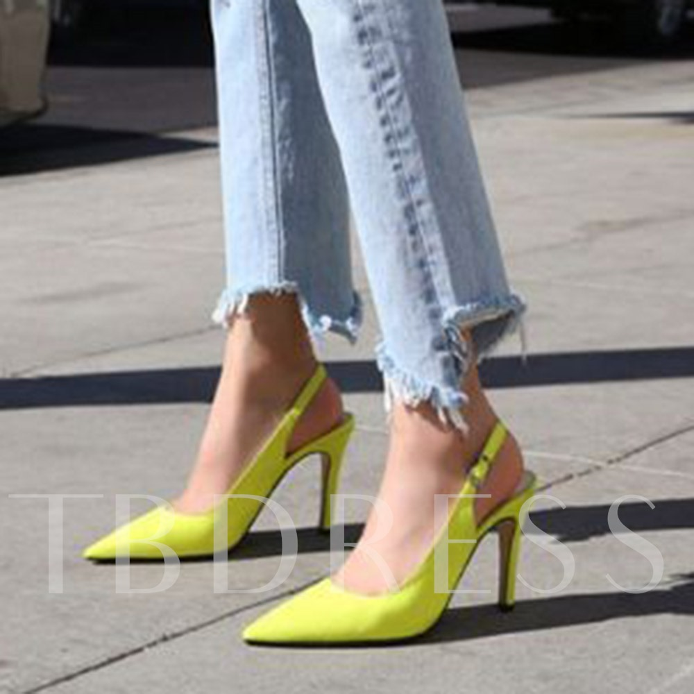 Buckle Pointed Toe Buckle Sandals