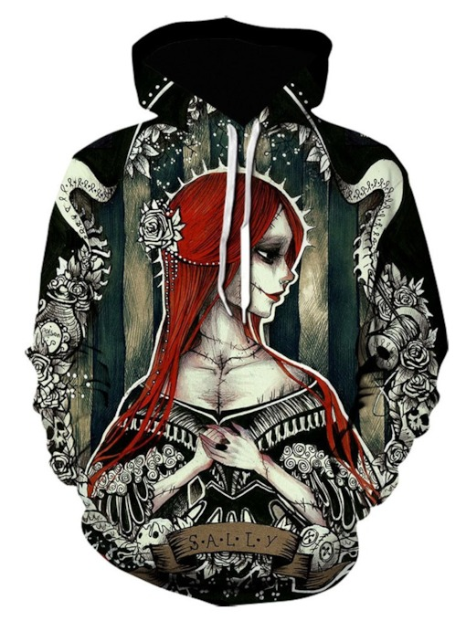 Pullover Print Slim Men's Hoodies