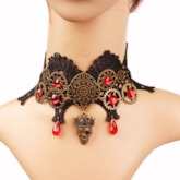 E-Plating Choker Necklace Skull Female Necklaces