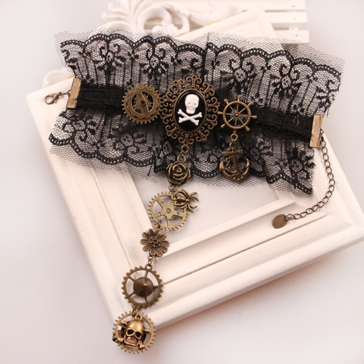European Halloween E-Plating Geometric Female Bracelets
