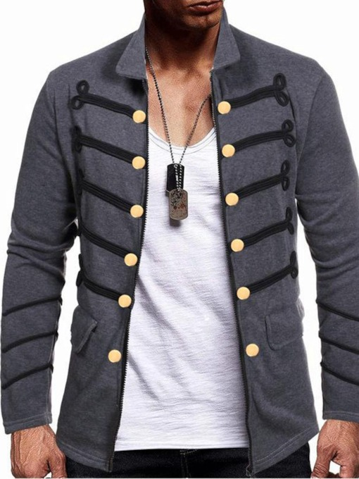 Color Block Lapel Fall Men's Jacket