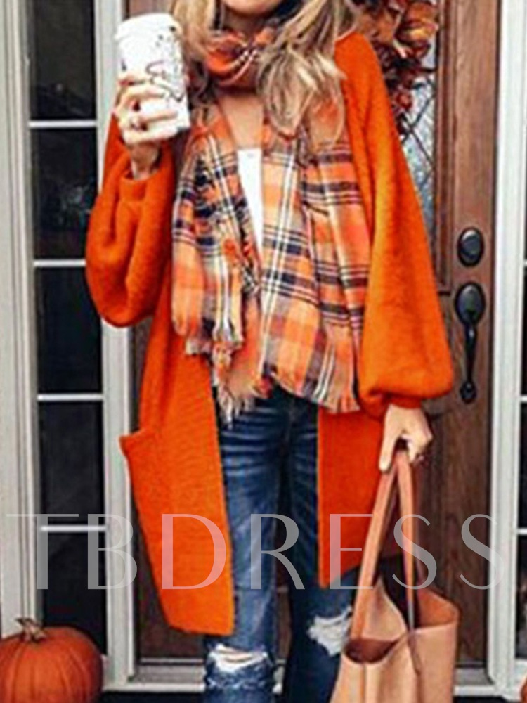 Lantern Sleeve Fall Women's Sweater