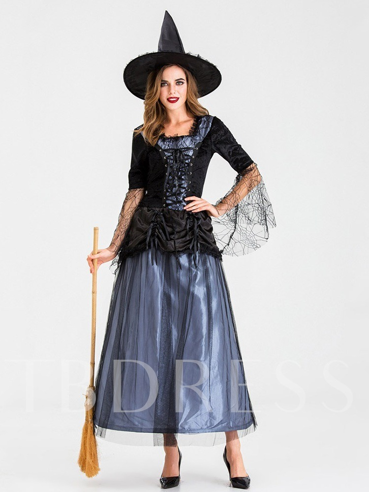 Mesh Color Block Sweet Classic Halloween Women's Costumes