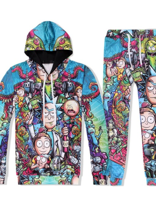 Print European Cartoon Pants Fall Men's Outfit