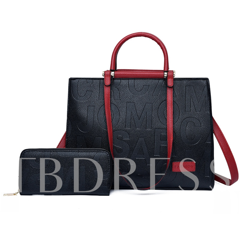 Thread Letter Women Tote Bags