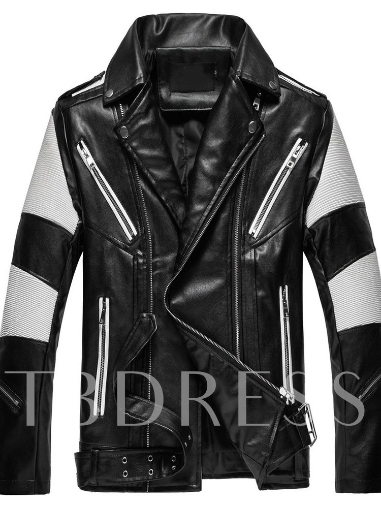 Lapel Standard European Men's Leather Jacket