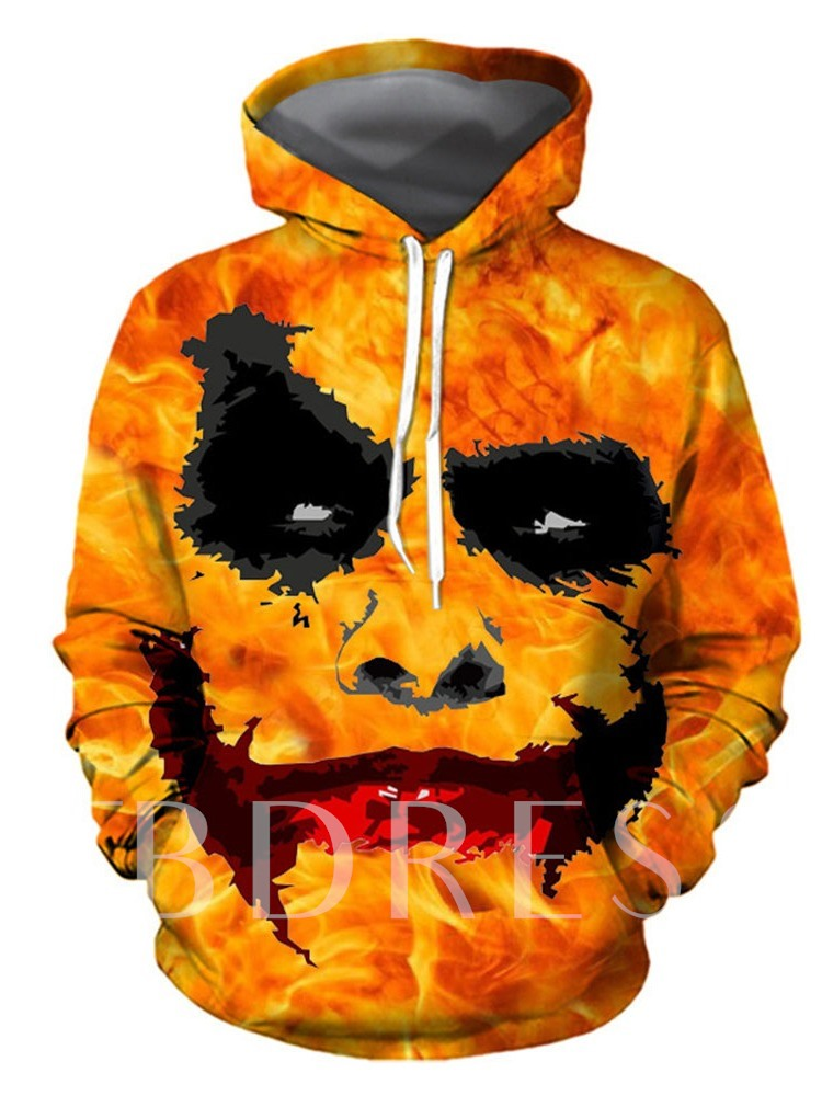 Print Pullover Loose Men's Hoodies