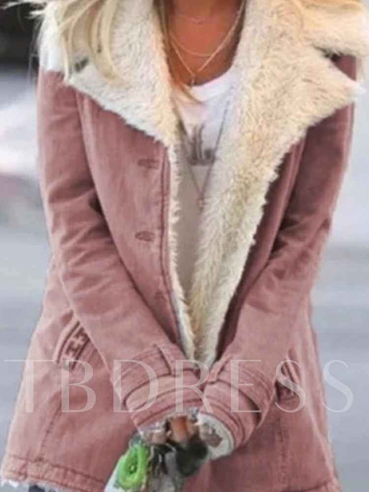 Button Slim Single-Breasted Mid-Length Women's Cotton Padded Jacket