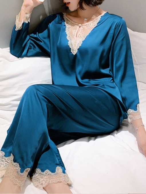 Sexy Round Neck Women's Pajama Suit