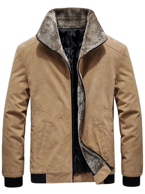 Patchwork Color Block Lapel Slim Men's Jacket