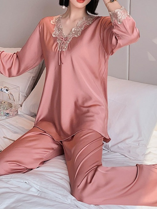 Casual Long Sleeve Women's Pajama Suit