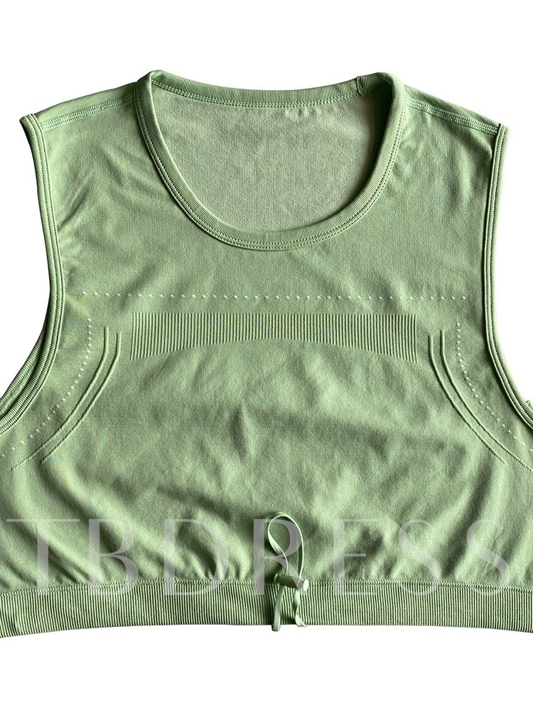 Polyester Solid Badminton Pullover Sleeveless Tops