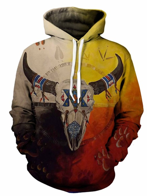Print Animal Pullover Hooded Men's Hoodies