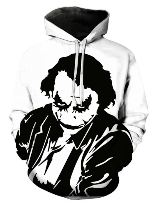 Print Pullover Cartoon European Men's Hoodies