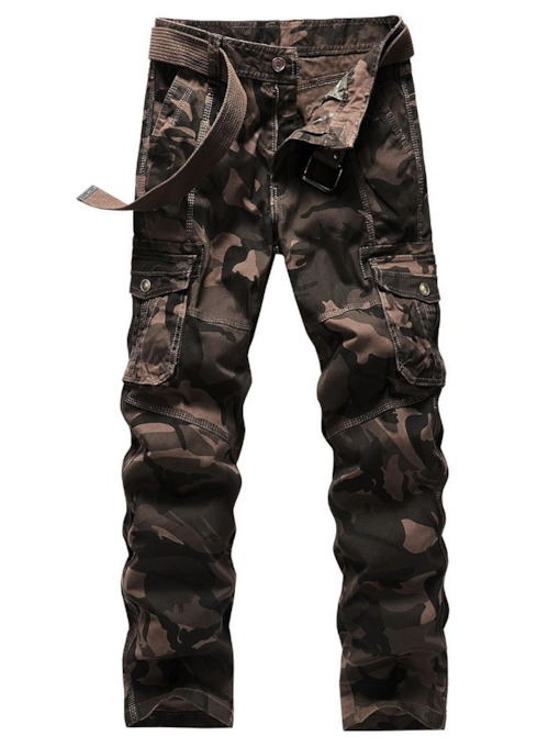 Pocket Camouflage Straight European Men's Casual Pants