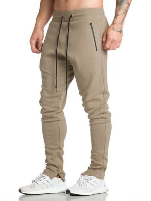 Zipper Pencil Pants Casual Men's Casual Pants