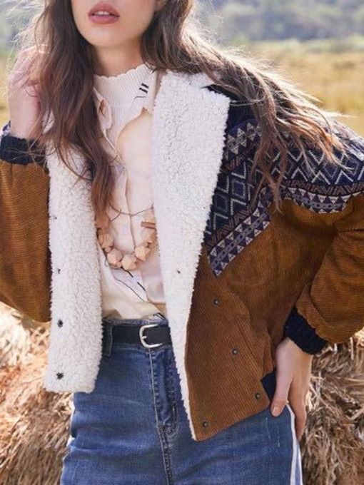 Loose Long Sleeve Double-Breasted Thin Lapel Women's Jacket