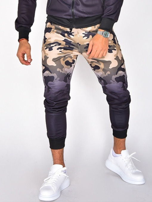 Print Camouflage Thick Fall Men's Casual Pants