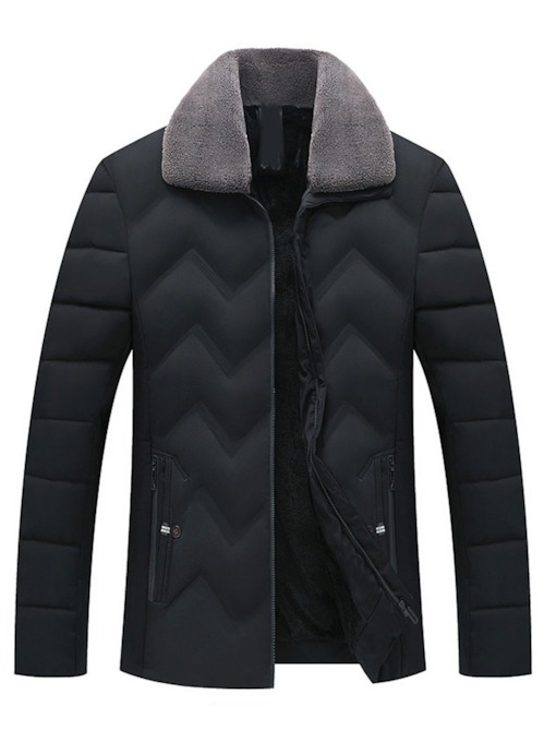 Lapel Standard Plain Zipper Zipper Men's Down Jacket