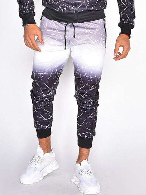 Pencil Pants Print Gradient Fall Men's Casual Pants