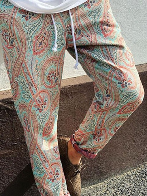 Floral Straight Print Summer Men's Casual Pants