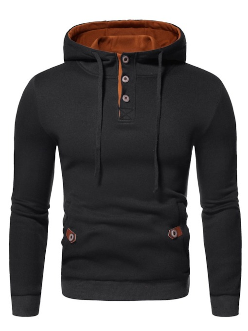 Pullover Patchwork Color Block Pullover Men's Hoodies