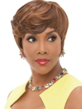 Asymmetrical Cut Women's Short Bob Hairstyles Straight Synthetic Hair Capless 120% 8 Inches Wigs