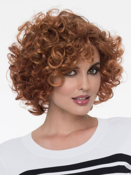 Capless Synthetic Hair Big Curly 12 Inches Wigs