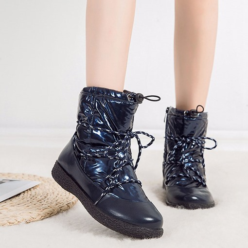 Flat With Side Zipper Plain Round Toe Casual Boots