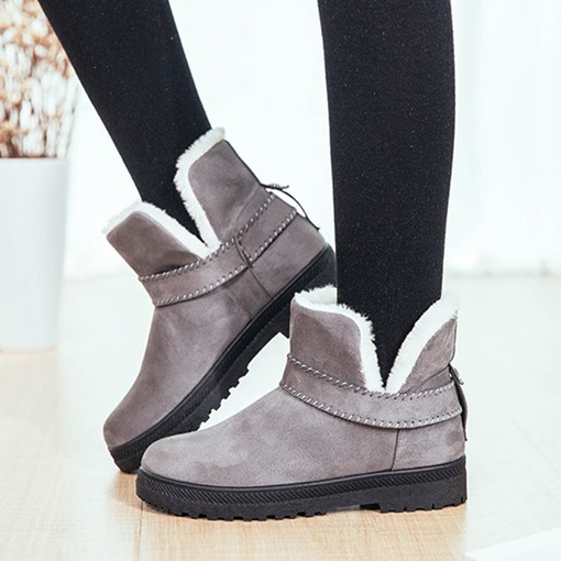 Slip-On Round Toe Flat With Plain Western Boots