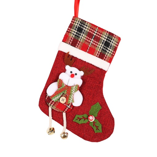 Color Block Christmas Stocking Decoration Supplies