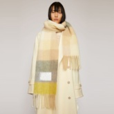 Imitation Cashmere Scarf Tassel Plaid Scarves