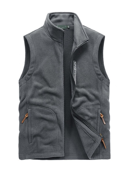 Letter Stand Collar Casual Men's Waistcoat