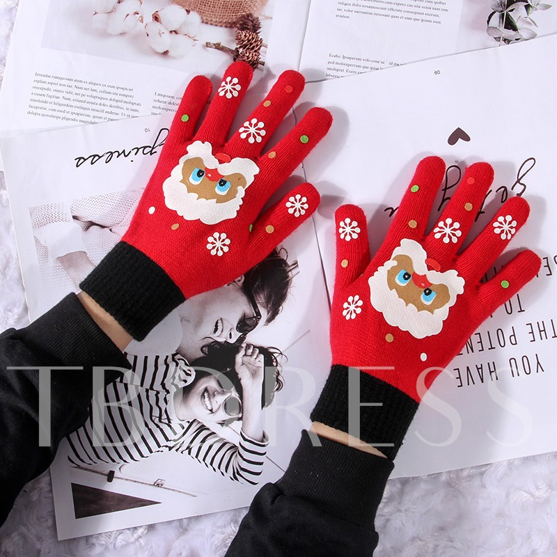 Cartoon Gloves Christmas Decoration Supplies