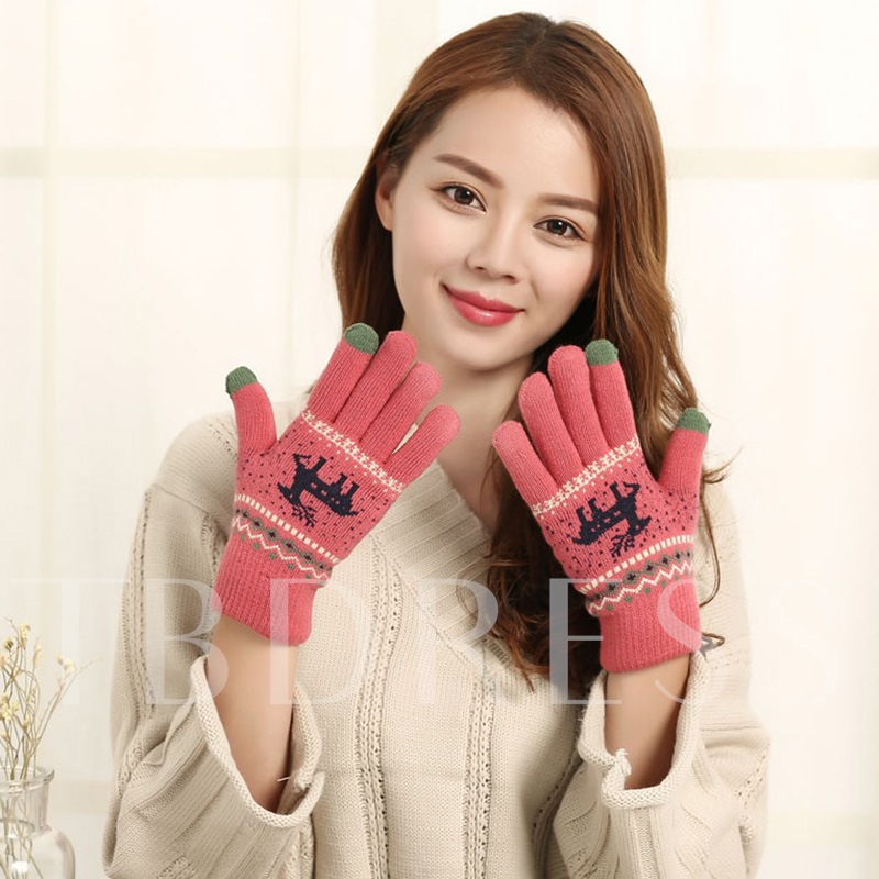 Animal Christmas Gloves Decoration Supplies