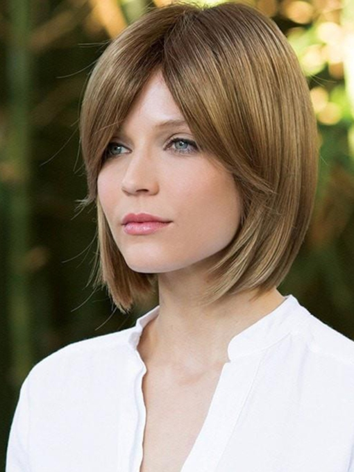 Women Synthetic Hair Straight 10 Inches Wigs