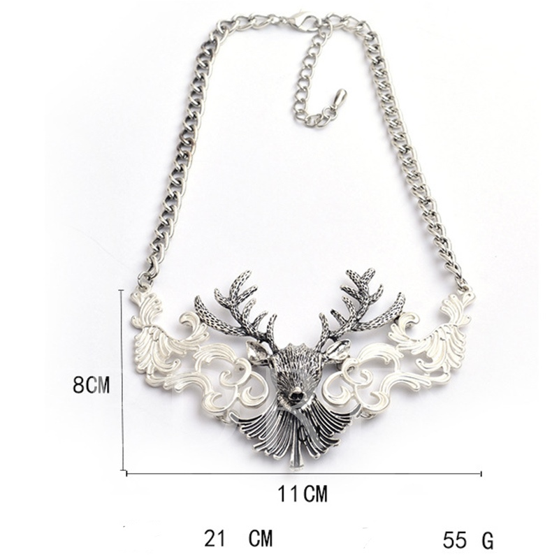Christmas Animal Ethnic Chain Necklace Female Necklaces