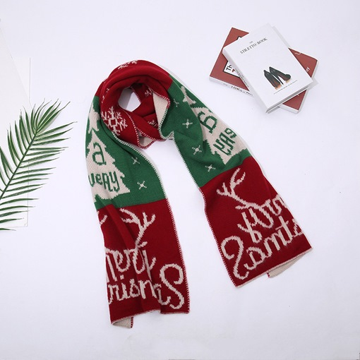 Cute Geometric Christmas Scarfs Decoration Supplies